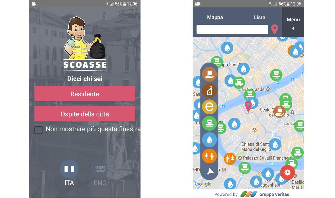 Nuova app di Veritas per la raccolta differenziata dei rifiuti