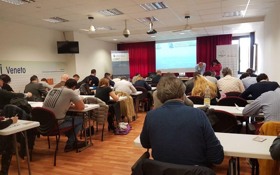 131 studenti universitari alle prove d'esame nella sede di Confservizi veneto