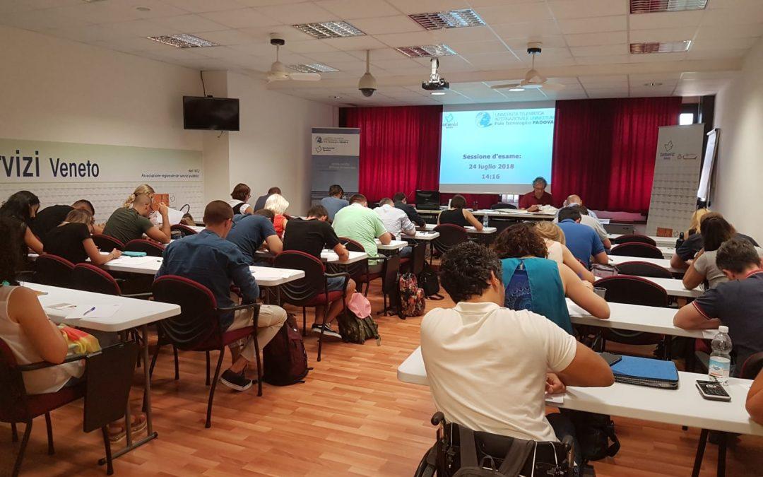 Esami per 166 studenti universitari nella sede di Confservizi Veneto
