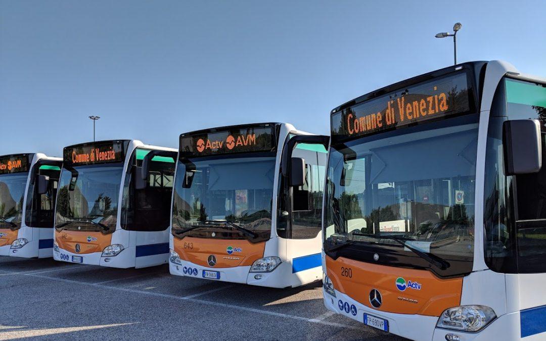 Nuovi Autobus AVM/Actv: il massimo della tecnologia per il contenimento delle emissioni di particolato e NOx