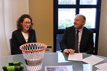 Amia e Buster Basket Verona insieme per sensibilizzare migliaia di ragazzi sulla raccolta differenziata