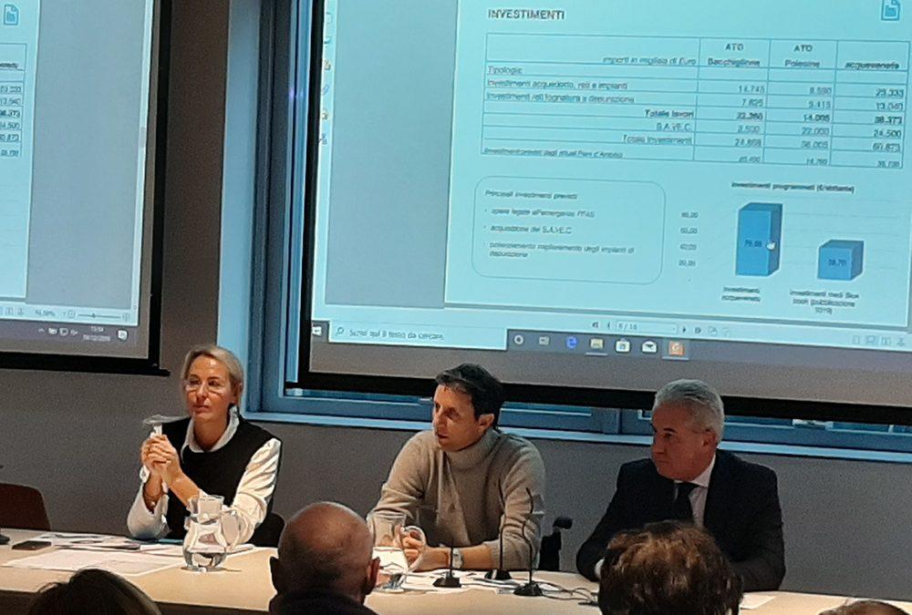 Budget 2020 di Acquevenete: più investimenti per le nuove opere e bollette senza aumenti