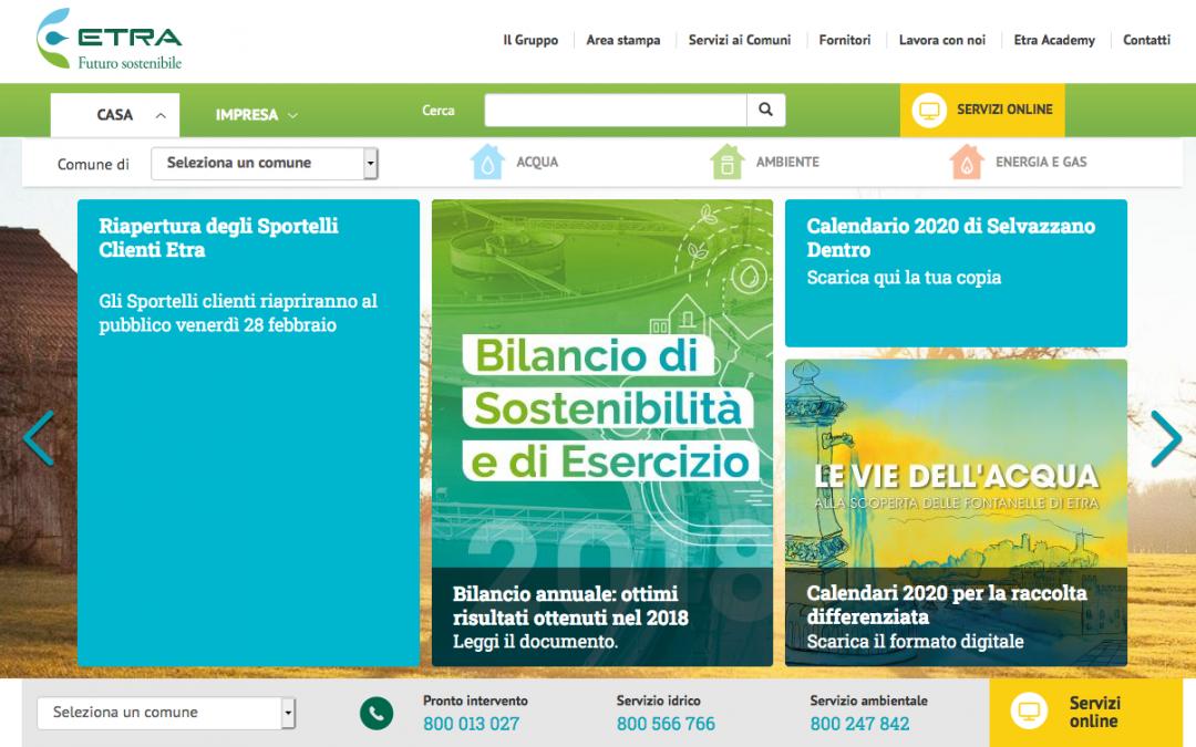 """Etra leader in Italia: ha vinto il premio nazionale """"Top Utility Comunicazione"""""""
