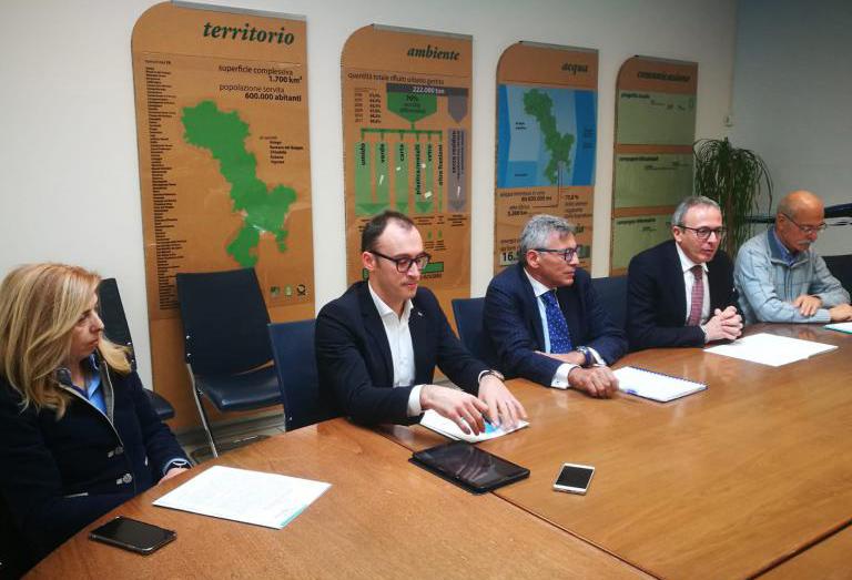 Gli amministratori di Etra hanno presentato il nuovo direttore generale Andrea Bossola