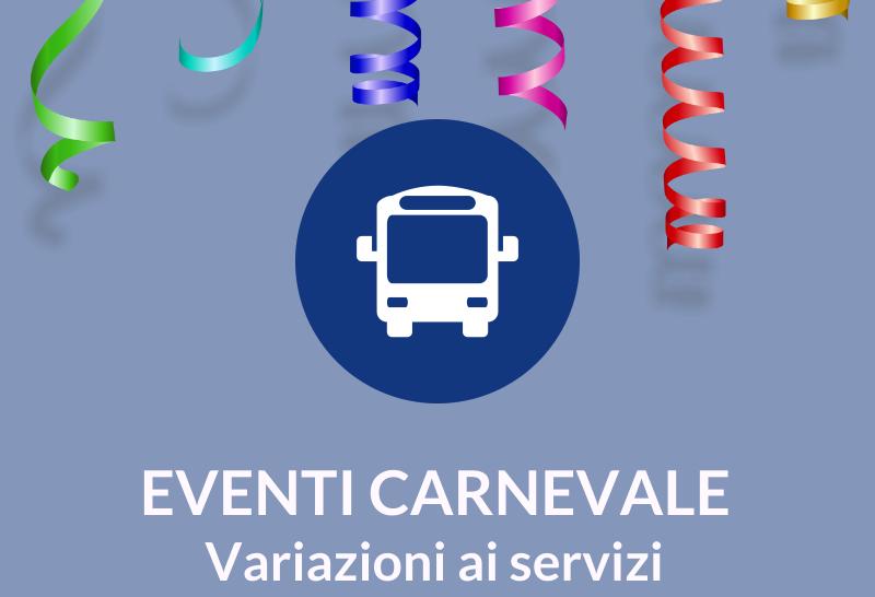 I percorsi modificati dei bus di Mobilità di Marca in occasione del Carnevale