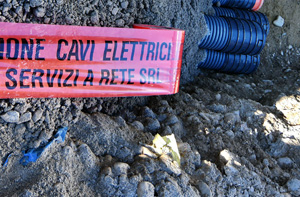 Oggi e domani lavori in Piazza Castello a Vicenza per potenziare la rete elettrica