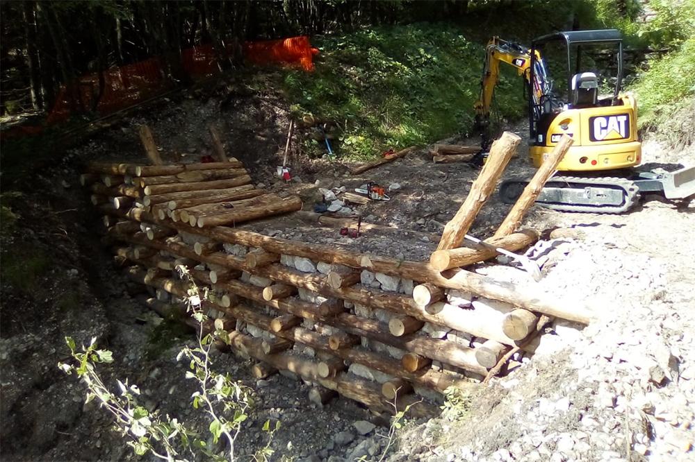 Opere di ripristino idraulico-ambientale sul monte Baldo a cura di Veneto Agricoltura
