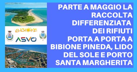 Raccolta rifiuti a Bibione Ovest e Porto Santa Margherita: al momento le informative solo su web