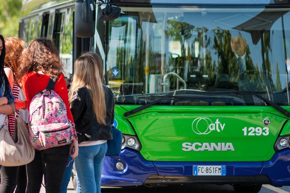 Una fermata dei bus di ATV è fuori servizio nel Comune di Badia Calavena a causa di alcuni lavori stradali