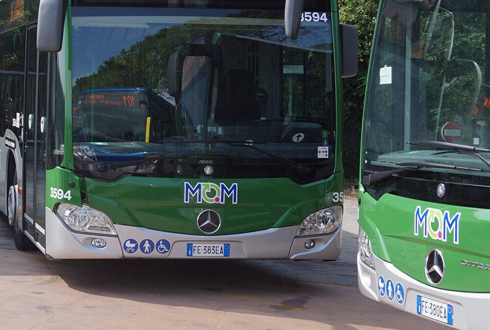 Deviazione dei bus di MOM in arrivo da Biadene delle linee 110, 111, 122 e 123 da mercoledì 28 a Montebelluna