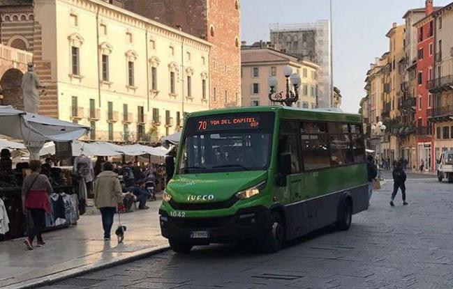 Cambio di percorso a Verona per gli autobus 70, 96 e 97. Sospesa da oggi la linea 77 Park Centro – piazza Brà