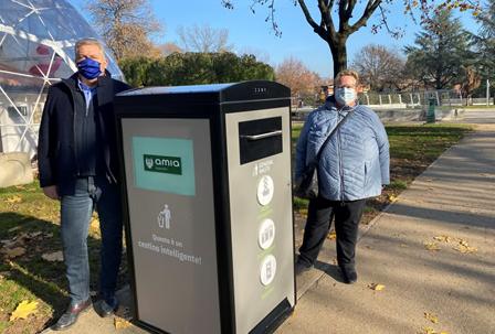 Prosegue a Verona la sperimentazione dei cestini smart che compattano i rifiuti sfruttando l'energia solare