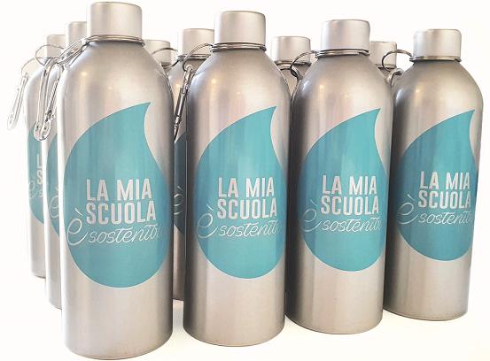 """Progetto """"La mia scuola è sostenibile"""": in arrivo 67mila borracce in alluminio per gli studenti della Marca Trevigiana"""