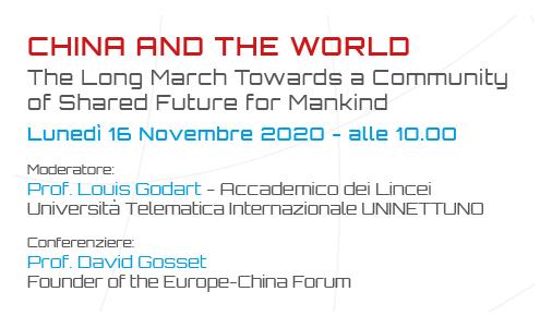 Tra  Cina e Occidente è guerra fredda? Lunedì un digital talk dell'Università Telematica Internazionale UniNettuno