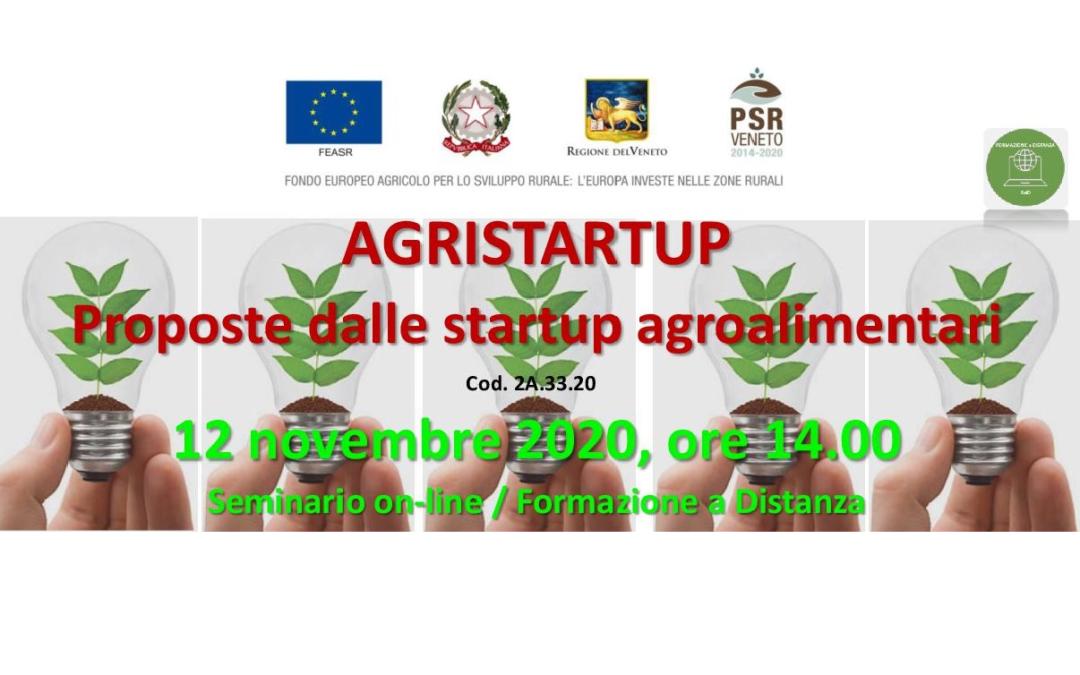 Tra le notizie di Agricoltura Veneta, un  seminario sulle startup che offrono prodotti e servizi innovativi