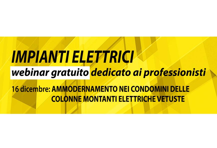 Ammodernamento delle colonne montanti elettriche condominiali: il 16 dicembre un webinar di AcegasApsAmga