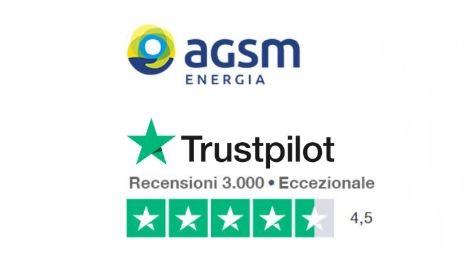 In sei mesi AGSM Energia è prima in Italia su Trustpilot per numero di recensioni e per valutazione media
