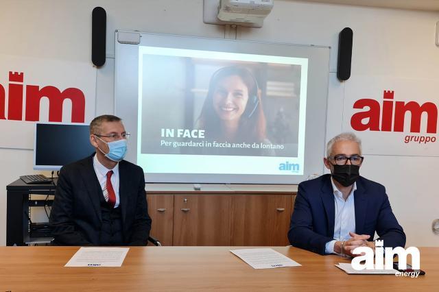 """AIM Energy lancia """"In Face"""": pratiche in videochiamata rispettando il distanziamento sociale causato dal Covid"""