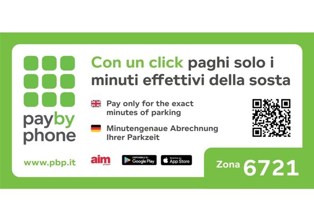 """""""PayByPhone"""": un altro comodo sistema per pagare la sosta con il cellulare sulle strisce blu di Vicenza"""