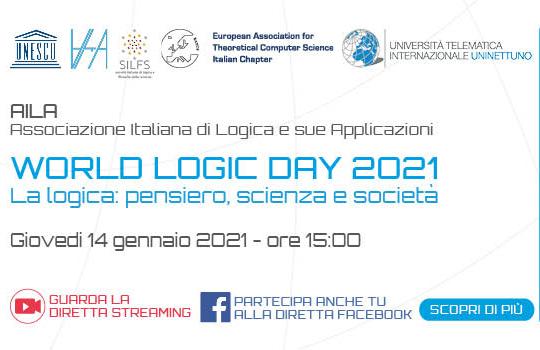 """Giovedì il digital talk """"WORLD LOGIC DAY 2021 – La logica: pensiero, scienza e società"""" dell'Universita UniNettuno"""