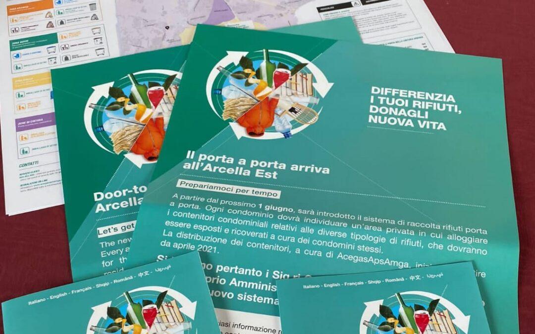 Dal primo giugno la raccolta rifiuti porta a porta sarà estesa da AcegasApsAmga a tutto il quartiere Arcella a Padova