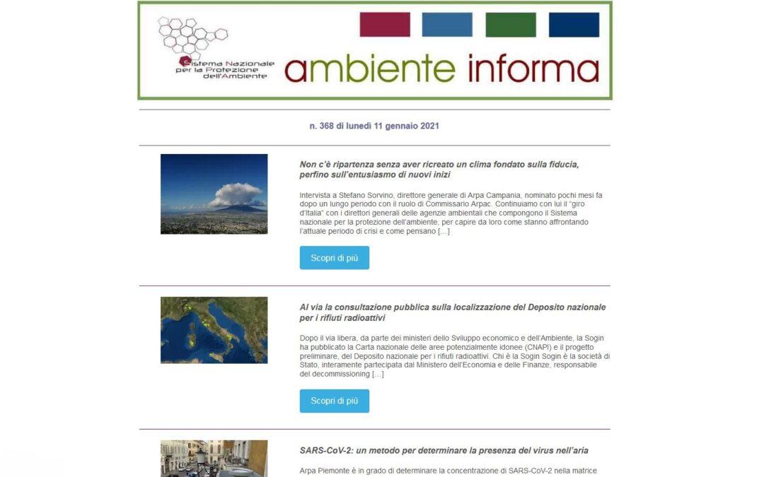 """I lettori apprezzano la newsletter """"Ambiente Informa"""" del Sistema Nazionale per la Protezione dell'Ambiente"""