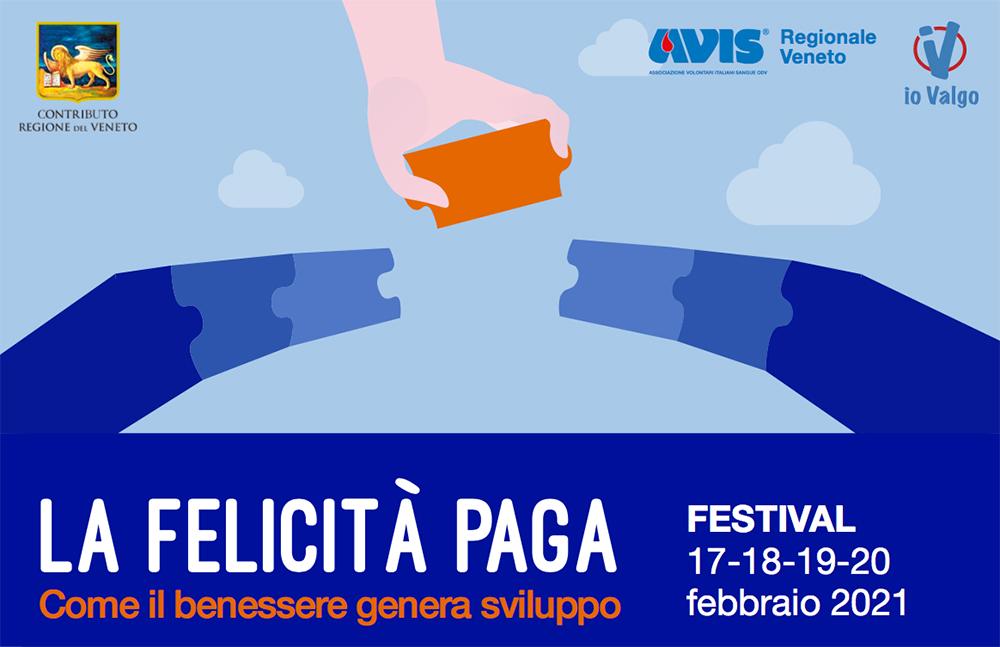 """Dal 17 febbraio """"La felicità paga – Come il benessere genera sviluppo"""" dell'Avis con la collaborazione di Confservizi Veneto"""