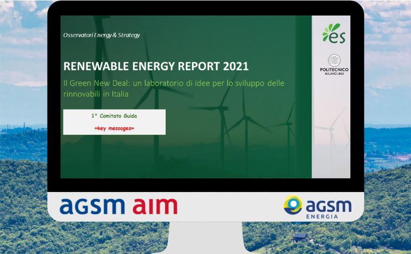 """AGSM Energia per il quarto anno è partner del Politecnico di Milano per il """"Renewable Energy Report"""""""