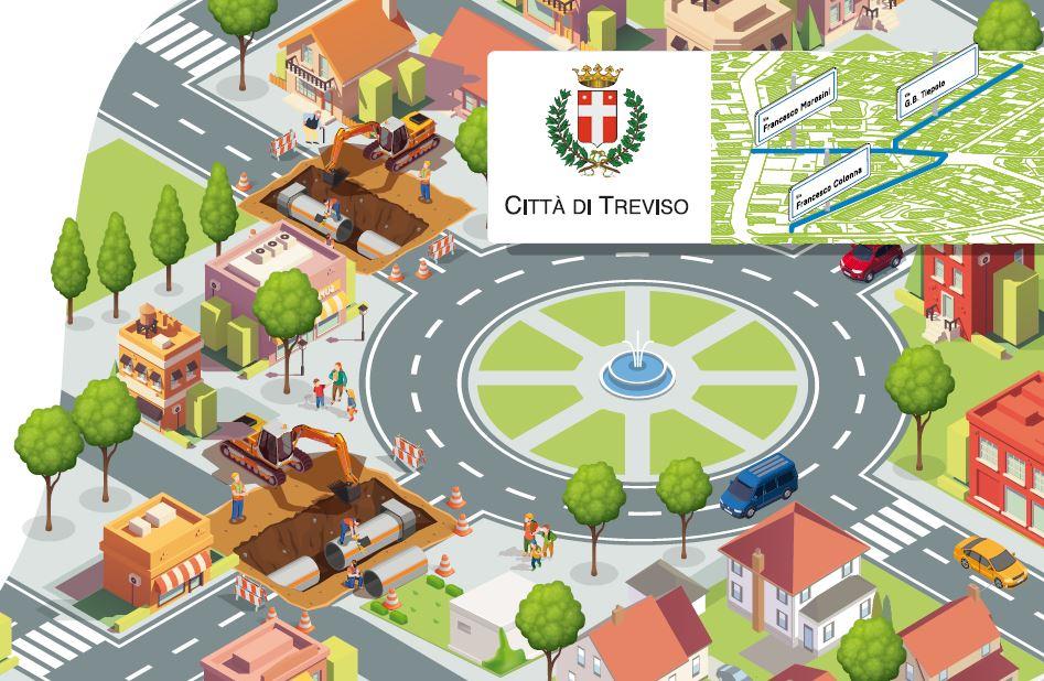 Importanti lavori di ATS sulle reti dell'acquedotto e della fognatura di Treviso inizieranno alla fine del mese