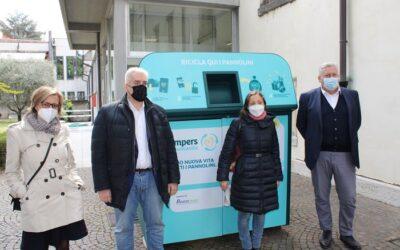 Ora la raccolta differenziata dei pannolini usati a Verona si avvale di innovativi  cassonetti automatizzati