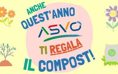 ASVO regala sacchetti di compost a agli utenti che conferiscono gli verdi dei scarti dei giardini ai centri di raccolta