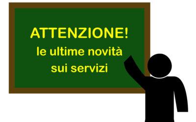Acquevente, ACTV Venezia, ATV Verona, Busitalia Veneto, Dolomiti Bus e Mobilità di Marca segnalano  variazioni dei servizi