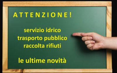 Le ultime modifiche dei servizi segnalate dalle utilities ASVO, ATV, Busitalia Veneto, Medio Chiampo, MOM ed SVT