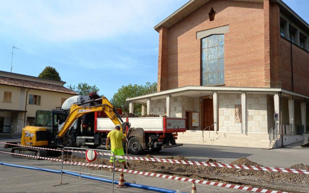 Nuovo cantiere di Alto Trevigiano Servizi per migliorare le reti idrica e della fognatura nel capoluogo della Marca