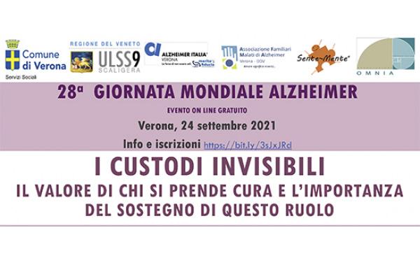 """28° Giornata Mondiale dell'Alzheimer: le farmacie AGEC sostengono l'iniziativa """"I custodi invisibili"""" in programma Verona"""