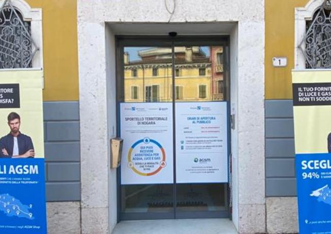 Disponibile uno sportello di AGSM Energia presso gli uffici di Acque Veronesi in Piazza Umberto Primo a Nogara