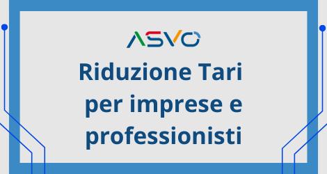 Come ricevere nel territorio servito da ASVO i contributi TARI per gli operatori economici colpiti dall'emergenza Covid