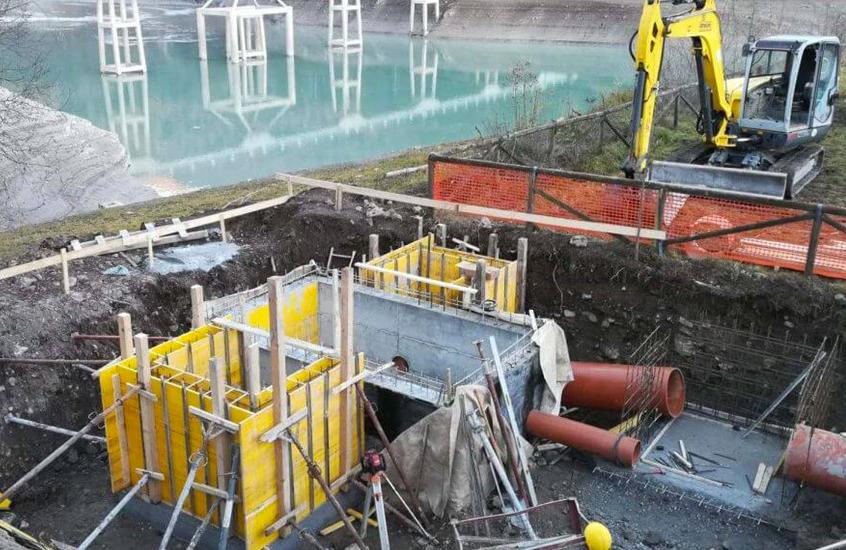 L'azienda Gestione Servizi Pubblici ha investito 335 mila euro per il nuovo collettore fognario a Domegge di Cadore