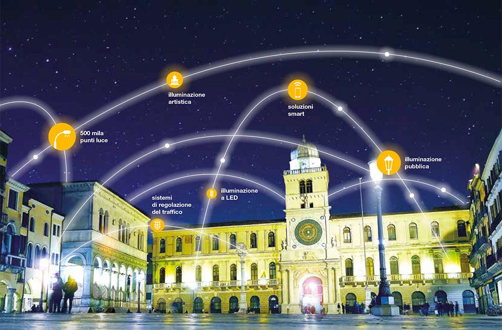 Nuovi impianti di illuminazione in via Dante a Padova. A breve altre installazioni in corso Vittorio Emanuele II