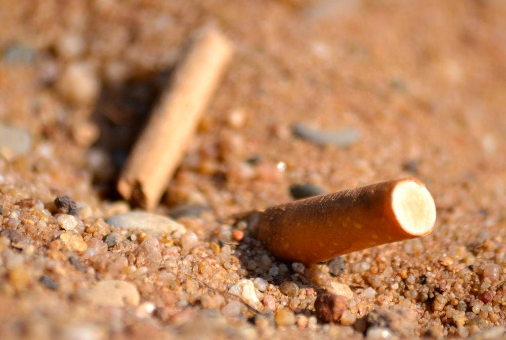 I mozziconi di sigaretta e la plastica sono i rifiuti più gettati e abbandonati sulle spiagge del Veneto
