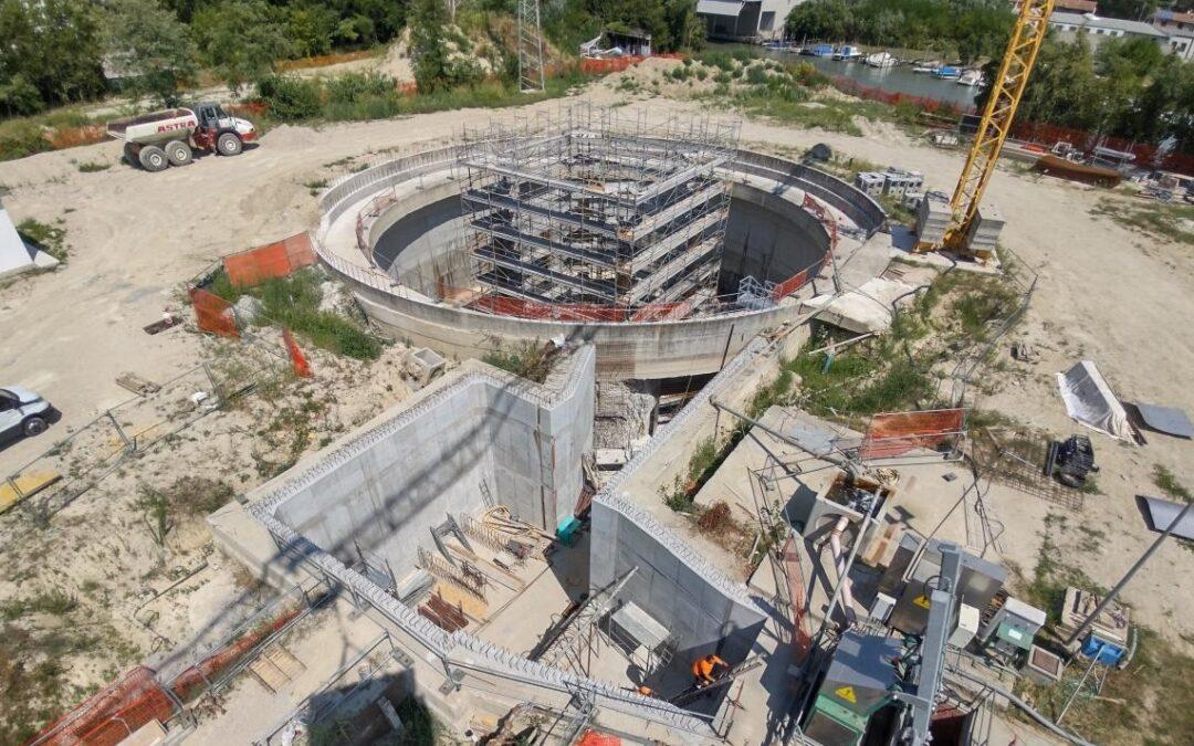 La costruzione dell'idrovora di via Torino a Mestre contro gli allagamenti sarà completata da Veritas in primavera