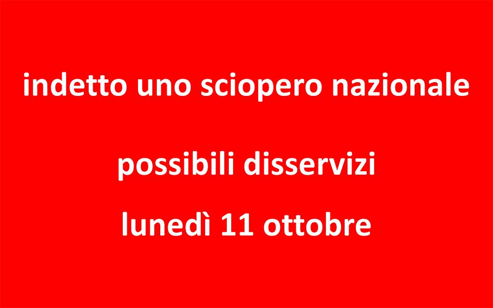 Possibili disservizi a causa di uno sciopero sono stati segnalati da AcegasApsAmga per la giornata di lunedì 11 ottobre