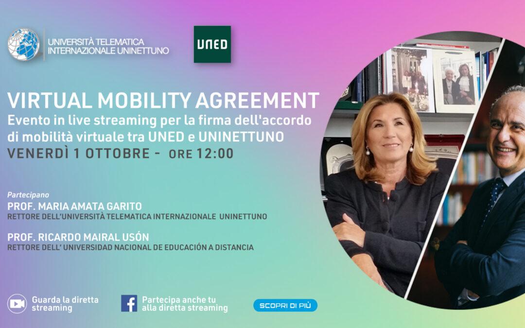 """Accordo di """"virtual mobility"""" tra le università Telematica Uninettuno e Nacional de Educacion a Distancia"""