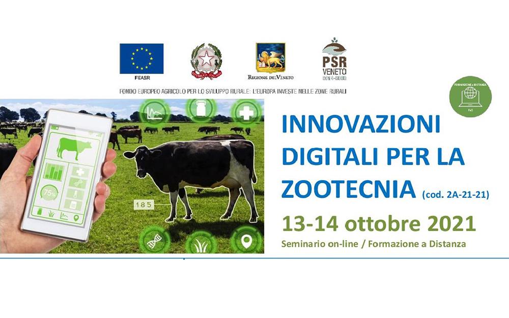 Seminario di formazione on line sulle innovazioni digitali per la zootecnia mercoledì e giovedì della prossima settimana