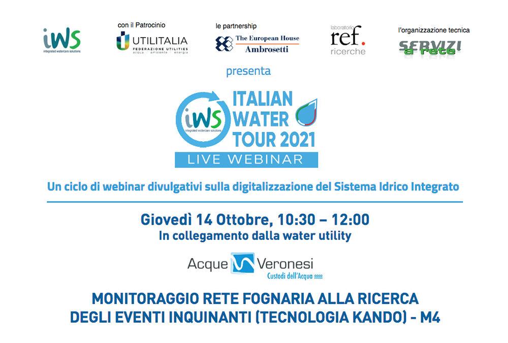 Giovedì 14 ottobre, in collegamento dalla sede di Acque Veronesi, webinar sul monitoraggio delle reti fognarie